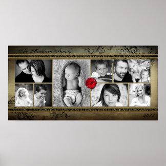 "10"" x20"" 8 ranura el montaje Rejoioce del collage  Póster"