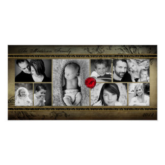 "10""x20"" 8 Slot Family Collage Montage Rejoioce Poster"