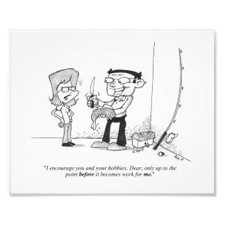 """10"""" x 8"""" impresión - dibujo animado de la pesca -  fotografía"""