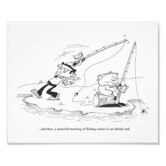 10 x 8 Print - Fishing Cartoon - Abrupt End Photo Print
