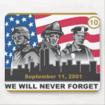 10 Year 9/11 Anniversary 3-Heroes Design Mouse Pads