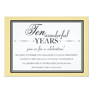10 Year Anniversary Party Invitations