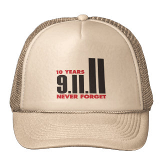 10 Year Anniversary September 11th Hat
