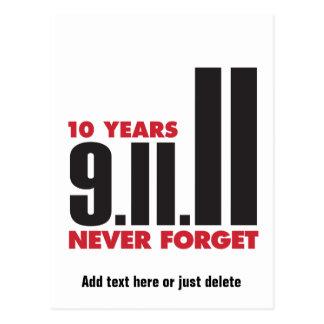 10 Year Anniversary September 11th Postcard