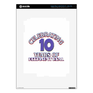 10 year birthday gifts decals for iPad 3