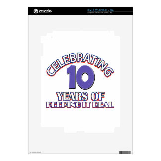 10 year birthday gifts decals for iPad 2