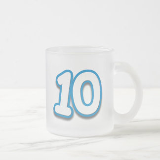 10 Year Birthday or Anniversary - Add Text Frosted Glass Coffee Mug