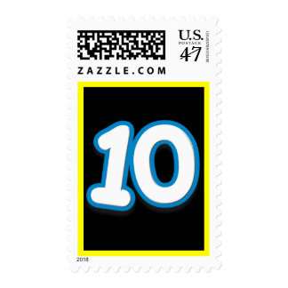 10 Year Birthday or Anniversary - Add Text Postage