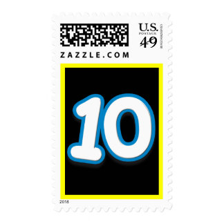 10 Year Birthday or Anniversary - Add Text Postage Stamp