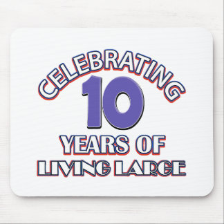 10 year gift designs mouse pad