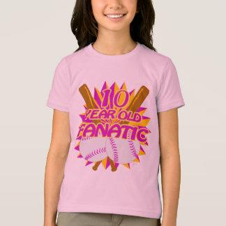 10 Year Old Baseball Fanatic T-Shirt