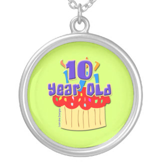 10 Year Old Birthday Round Pendant Necklace