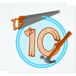 10 year old birthday cards greeting photo cards zazzle 10 year old boy builder tools birthday design card bookmarktalkfo Images