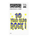 10 Year Olds Rock ! (blue) Postage Stamp