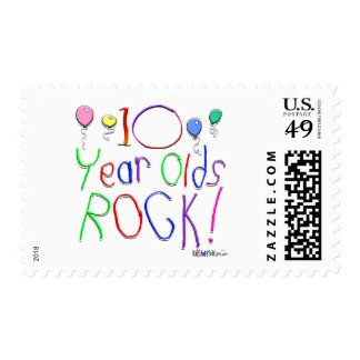 10 Year Olds Rock ! Postage