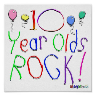 10 Year Olds Rock Poster