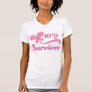 10 Year Survivor Butterfly T-Shirt