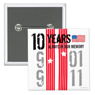 10 Years 911 Square Button 2