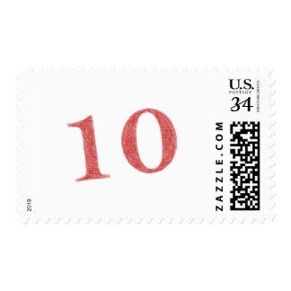 10 years anniversary postage