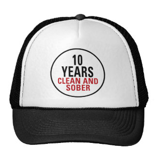 10 Years Clean and Sober Hat