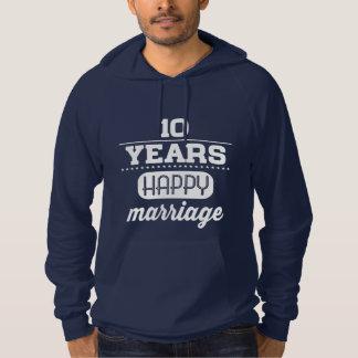 10 Years Happy Marriage Hoodie