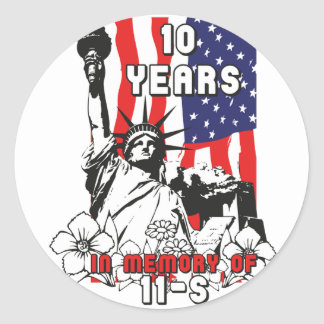 10 years in Memory of 11-S Classic Round Sticker