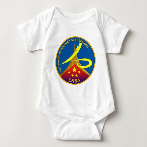 10 Years of Manned Spaceflight Baby Bodysuit