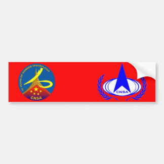 10 Years of Manned Spaceflight Car Bumper Sticker