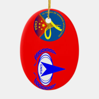 10 Years of Manned Spaceflight Ceramic Ornament