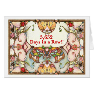 10 Years of Recovery Days Greeting Card