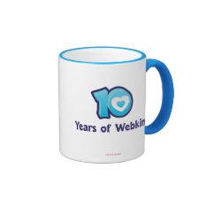 10 Years of Webkinz Logo Ringer Mug at Zazzle