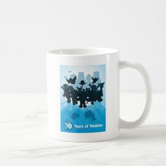 10 Years of Webkinz Silhouette Classic White Coffee Mug
