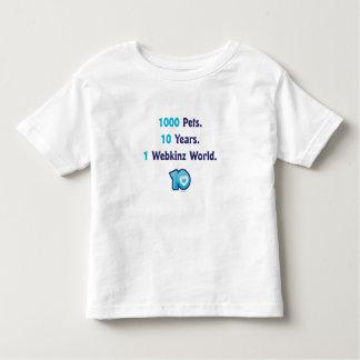 10 Years of Webkinz Stats Toddler T-shirt