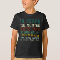 10 Years Old 10th Birthday Boy Girl Anniversary T-Shirt