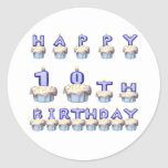 10 Years Old Round Sticker