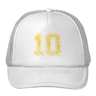 #10 Yellow Varsity Trucker Hat