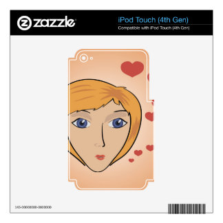 10girl with heart iPod touch 4G decals