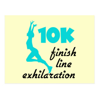 10K Aqua Finish Line Postcard