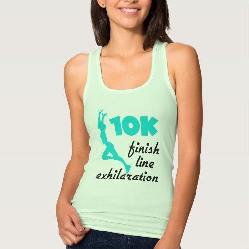 10K Aqua Finish Line T-shirt Tank Tops, Tanktops Shirts