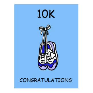 10K Congratulations for male runner. Postcard
