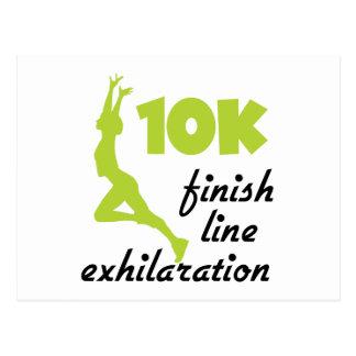 10K Green Finish Line Postcard