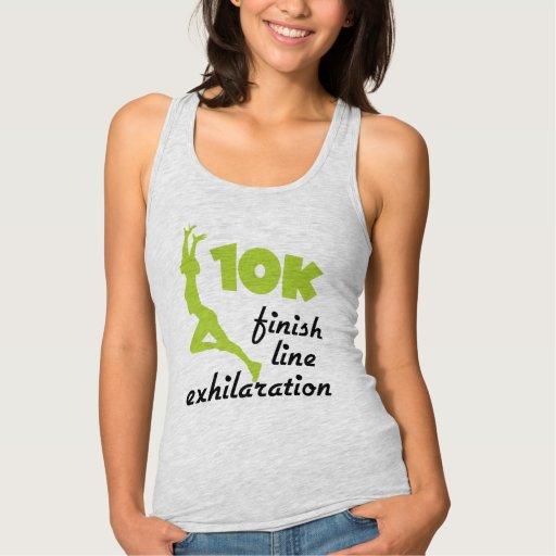 10K Green Finish Line T-shirt Tank Tops, Tanktops Shirts