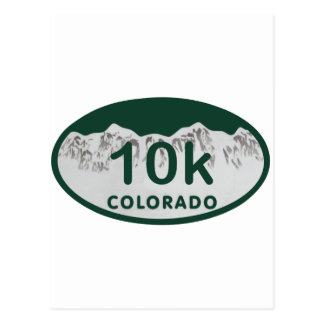 10k license oval postcard