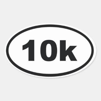 10k pegatinas ovales