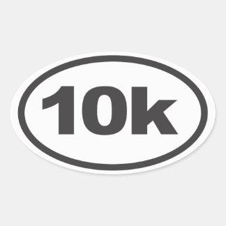 10K que corre la etiqueta oval