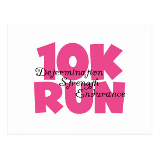 10K Run Pink Sports Running Postcard