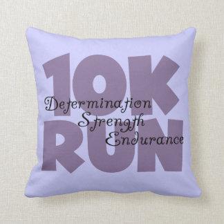 10K Run Purple Throw Pillow