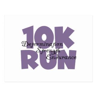 10K Run Purple Postcard