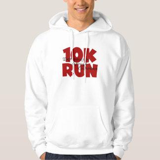 10K Run Red Hooded Sweatshirt