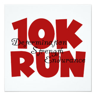 10K Run Red Personalized Announcement